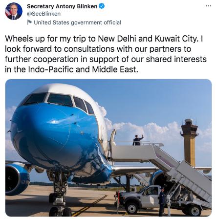 Blinken visits India